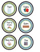 Classroom Center Supply Labels- Green and Blue