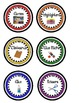 Classroom Center Supply Labels- Primary Colors