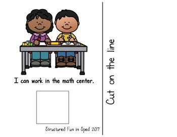 Classroom Centers Adapted Book
