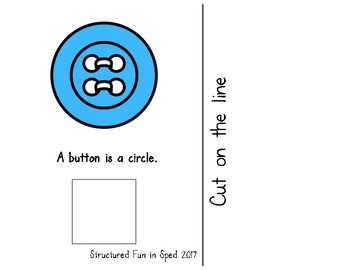 Adapted Book for Preschool, Pre-K and Special Needs (Circles)