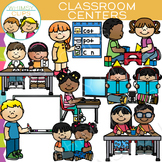 Classroom Centers Clip Art - Set One {Whimsy Clips School Clip Art}
