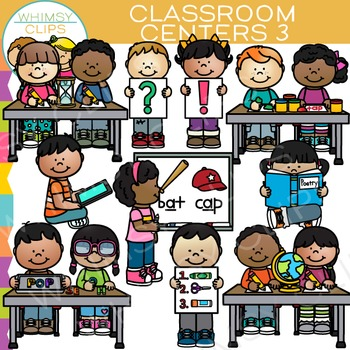 Classroom Centers Clip Art - Set Three