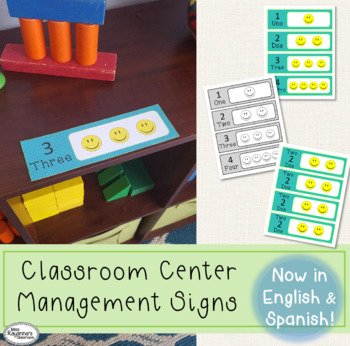 Classroom Centers Management Signs