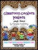 Classroom Centers Posters {Jungle/Safari Themed}