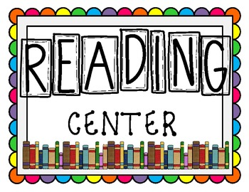 Classroom Centers Signs - Bright and Colorful!