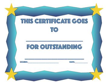 Classroom Certificate