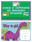 Classroom Certificates & Awards
