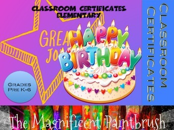 Classroom Certificates: Elementary