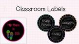 Classroom Chalkboard Labels