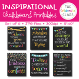 Classroom Chalkboard Printables {6 total signs}