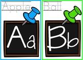 Classroom Chalkboard Theme Alphabet Chart