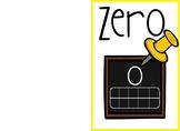 Classroom Chalkboard Theme Numbers Chart 0-10!