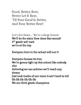 Classroom Chants
