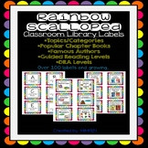 Rainbow Scalloped Classroom Library Labels