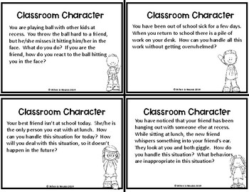Classroom Character Discussion Cards