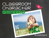 Classroom Character Poster - Be Kind