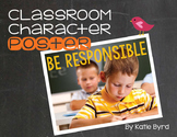 Classroom Character Poster - Be Responsible