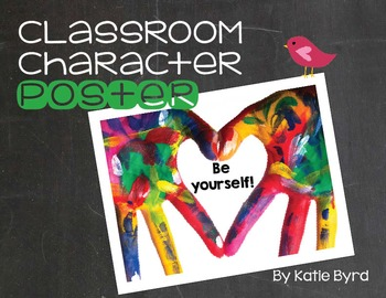 Classroom Character Poster - Be Yourself!