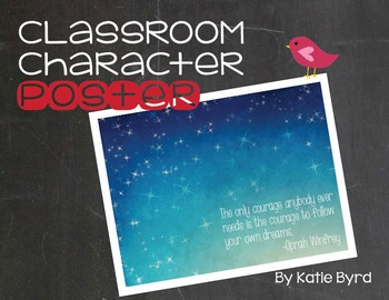 Classroom Character Poster - Courage to Follow your Dreams