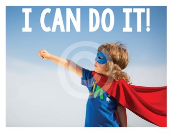 Classroom Character Poster - YOU CAN DO IT!