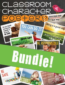 Classroom Character Posters - BUNDLE!