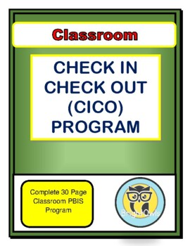 Classroom Check In Check Out Program- Elementary