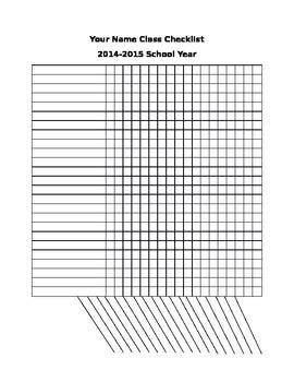 Classroom Checklist or Gradebook Page