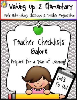 Classroom Checklists & Organization