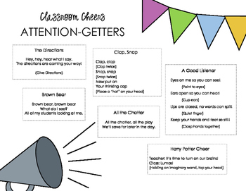 Classroom Cheers: Class Time Rhymes