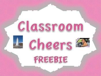 Classroom Cheers FREEBIE