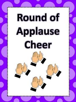 Classroom Cheers Purple Polka Dot