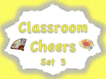 Classroom Cheers Set 3