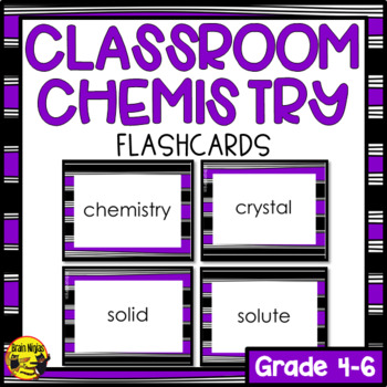 Chemistry Flashcards- Editable
