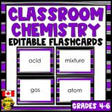 Chemistry | Editable Flashcards