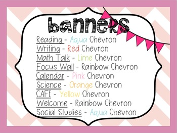 Classroom Chevron Bunting Banners