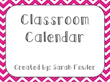 Classroom Chevron Calendar