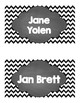 Classroom Chevron Library Labels- 40 labels