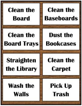 Classroom Chores