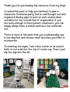 Classroom Christmas Party Pack