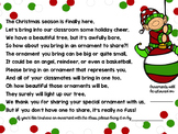 Classroom Christmas Tree; Letter to Bring in Ornaments