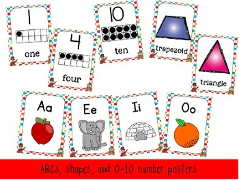 Classroom Circus Room Decor Pack