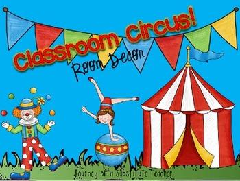 Classroom Circus Room Decor Pack