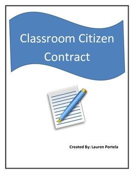 Classroom Citizen Contract
