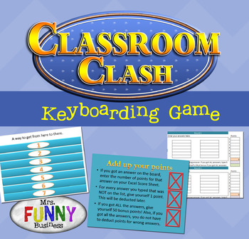Classroom Clash Keyboarding Game