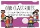Classroom (Class) Rules Posters - Bright Confetti