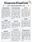Classroom Classifieds - Classroom Jobs - Completely Editable