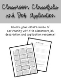 Classroom Classifieds and Job Application