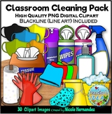 Classroom Cleaning Pack Clip Art for Personal and Commercial Use