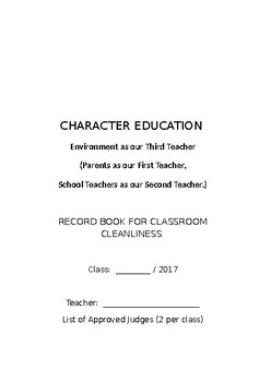 Classroom  Cleanliness Rubric