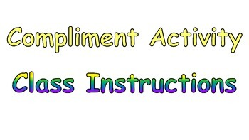 Classroom Climate Compliment Activity